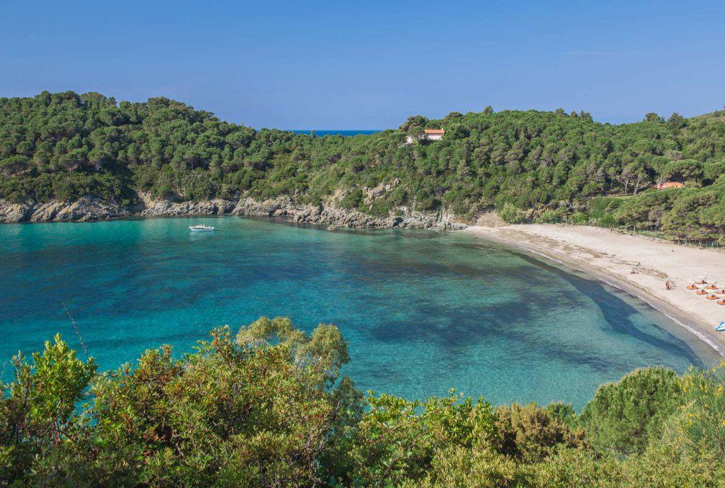 spiaggia punta fetovaia, isola d'elba